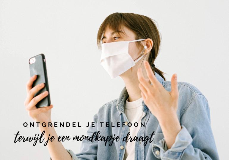 Ontgrendel je iPhone met Face ID terwijl je een mondmasker draagt