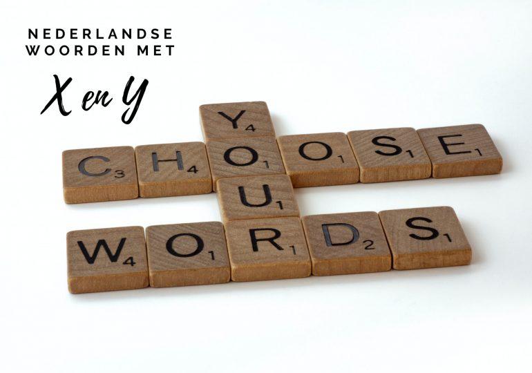 Nederlandse woorden met een X en Y voor WordFeud of Scrabble