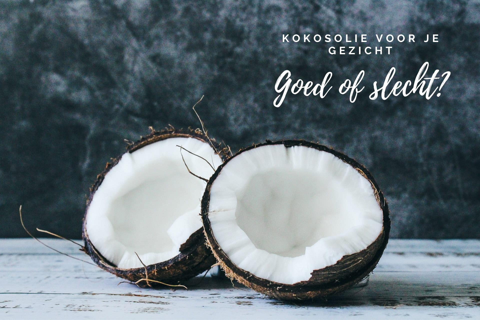 Kokosolie op je gezicht gebruiken, is dat veilig?